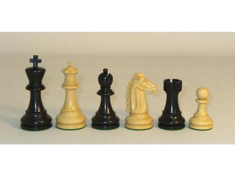 Chess Set Mustang Black Chessmen with Black Maple Chess Board