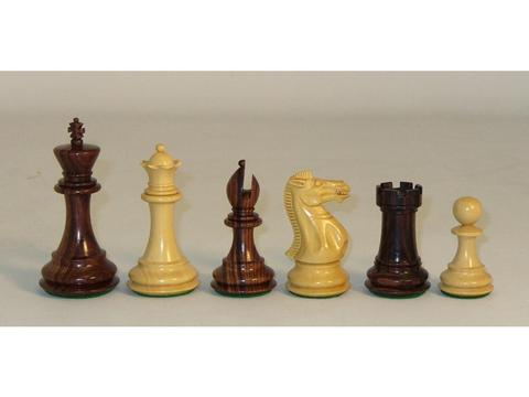 Large Rosewood Executive Chessmen with Paduak Maple Chess Board