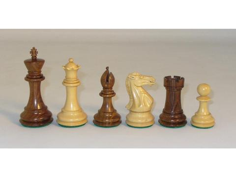 Sheesham Executive Chessmen with Paduak Maple Chess Board