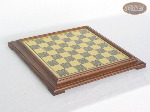 Italian Brass Chess Board [Raised] - Large