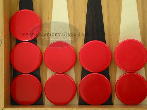 Backgammon Checkers - Red - Roll of 15
