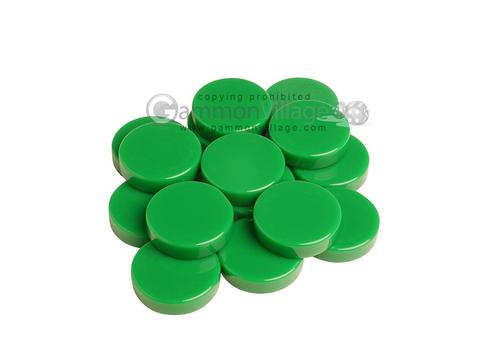 Backgammon Checkers - High Gloss Melamine - Green (1 3/16 in. Dia.) - Roll of 15