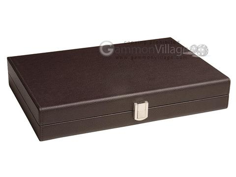 16-inch Premium Backgammon Set Backgammon Games Dark Brown Board