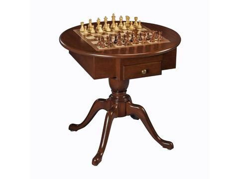 Round Chess/ Checkers/ Backgammon Table [31 1/2in.] - Made in USA