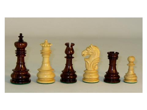 Rosewood Lotus Chessmen