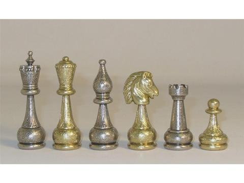 Large Staunton Metal Chessmen