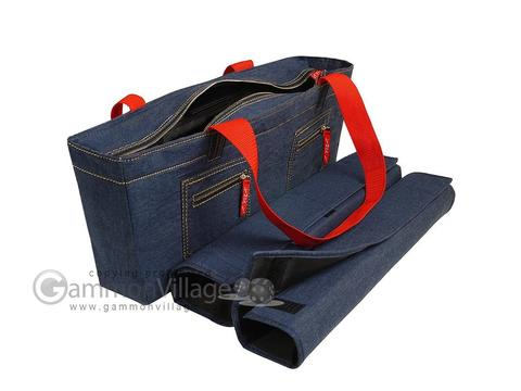 Empty Soft-Sided Mah Jong Case by Linda Li™ (fits modern pushers) - Denim