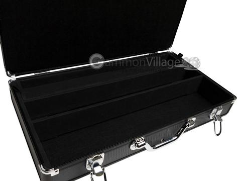 Large Empty Aluminum Mah Jong Case (fits pushers) - Black