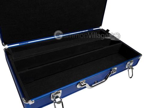 Large Empty Aluminum Mah Jong Case (fits pushers) - Dark Blue