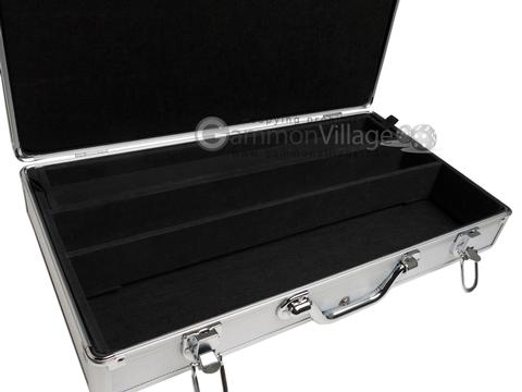 Large Empty Aluminum Mah Jong Case (fits pushers) - Silver