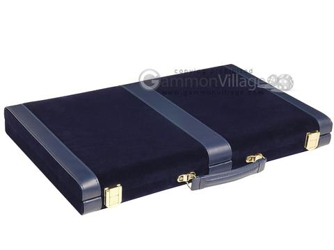 15-inch Deluxe Backgammon Set - Blue