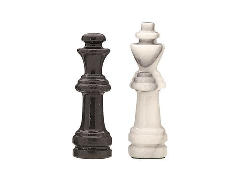 18in. Black and White Marble Chess Set