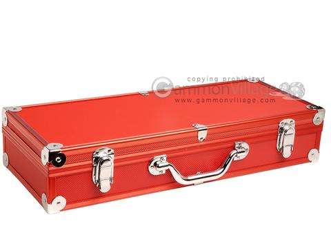 Empty Aluminum Mah Jong Case (not for pushers) - Red