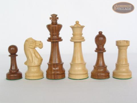 Royal Rosewood and Maple Staunton Chessmen