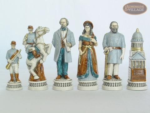Confederate vs. Union Chessmen