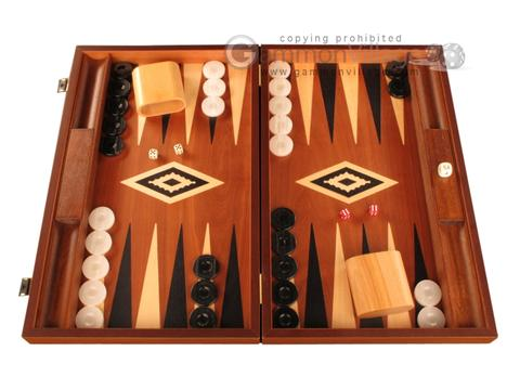 Mahogany Backgammon Set - Large - Black