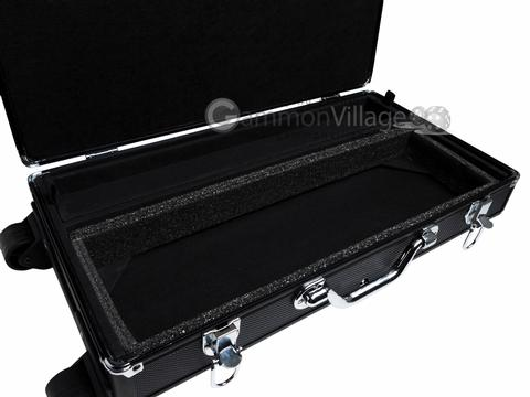 Large Empty Wheeled Rounded Aluminum Mah Jong Case (fits pushers) - Black