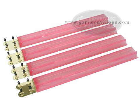 Mah Jong Tile Racks - Acrylic<br>Pink Clear - Set of 4