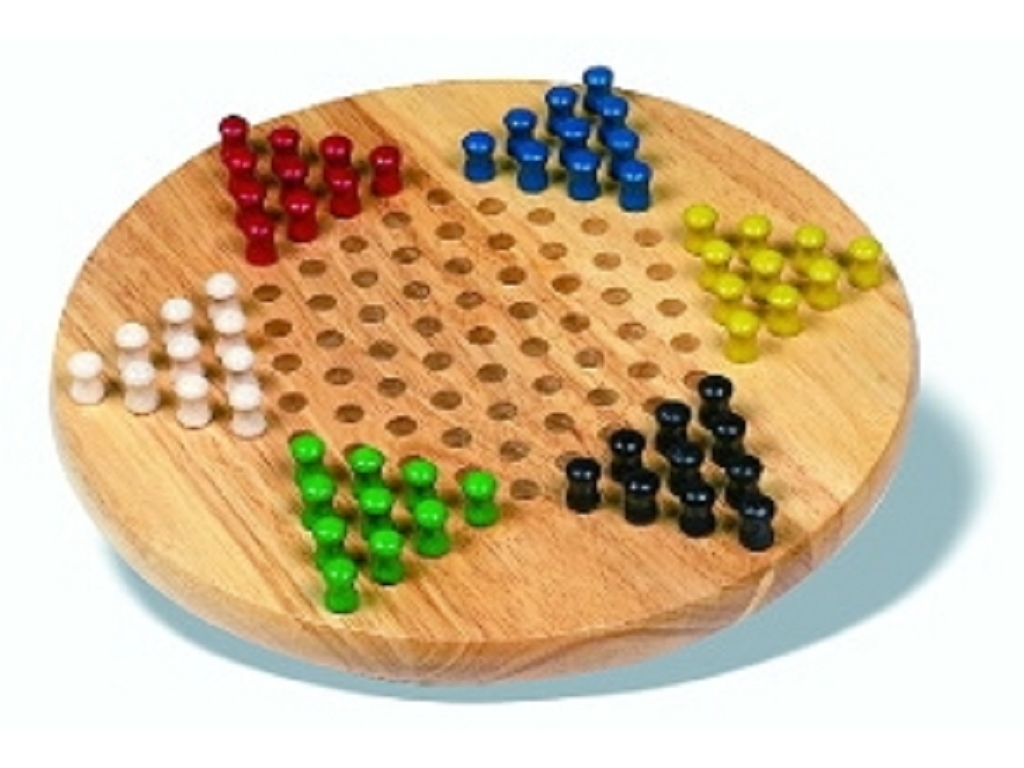 Chinese Checkers   Hardwood Board