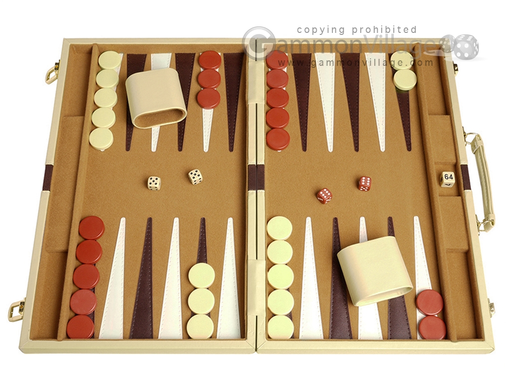 18-inch Deluxe Backgammon Set - Camel