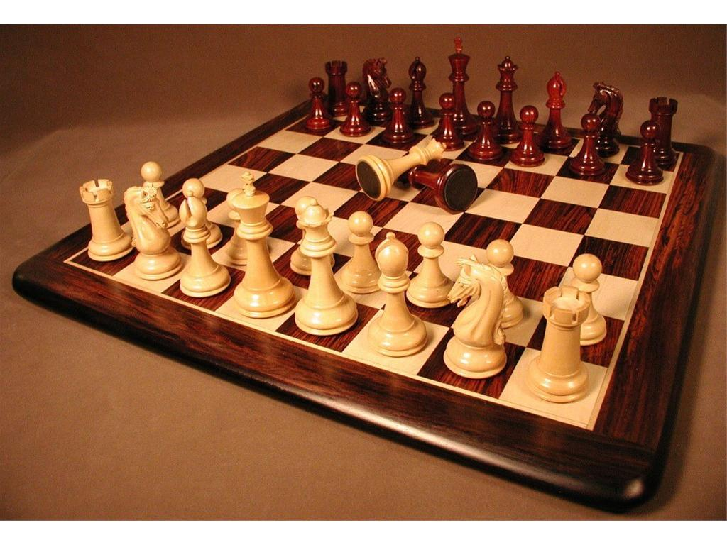 Chetak Bud Rosewood Chessmen with Rosewood and Maple Thick Board