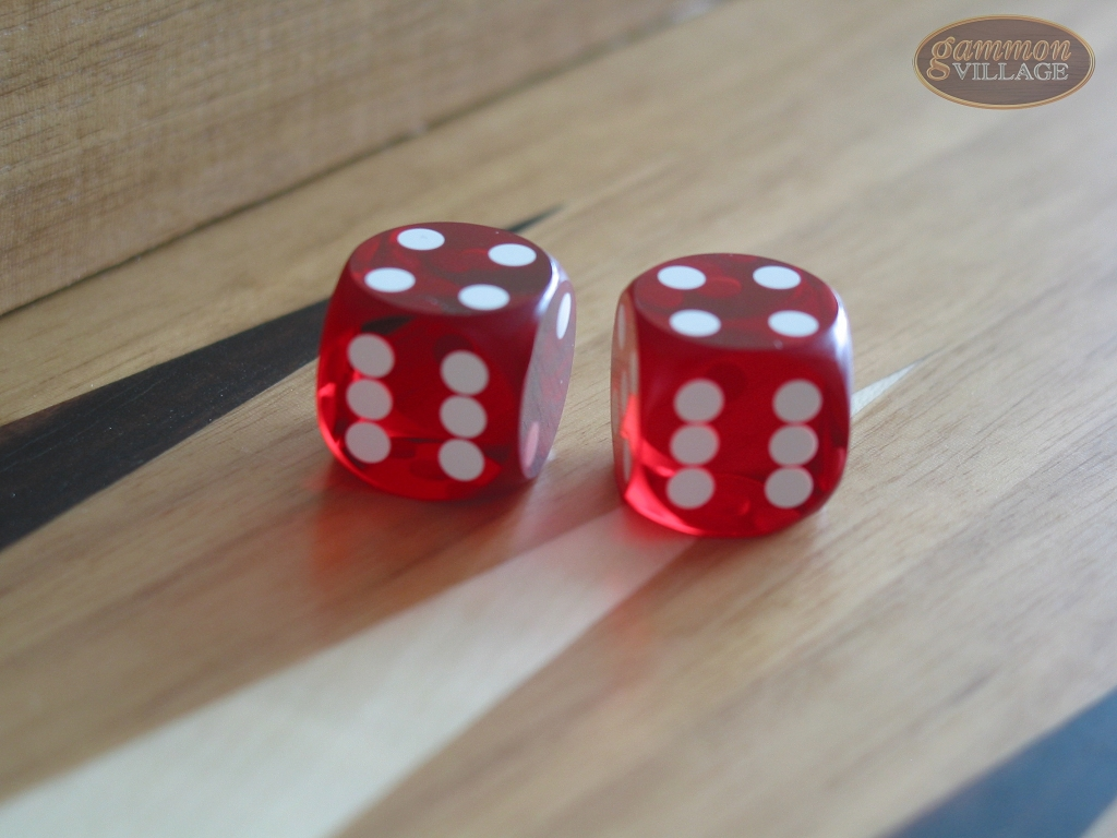 Precision Dice - Ruby Red - 9/16 in. - 1 pair (2 die)