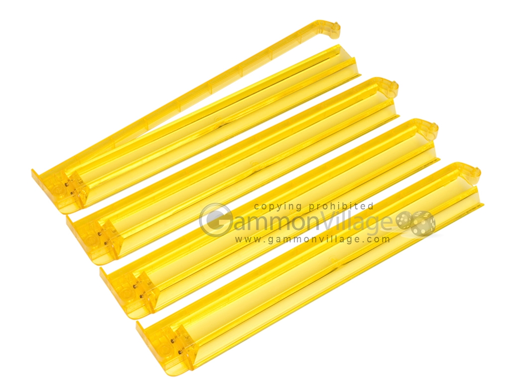 Modern Pushers - Rack & Pusher Combined - Acrylic - Yellow Clear - Set of 4