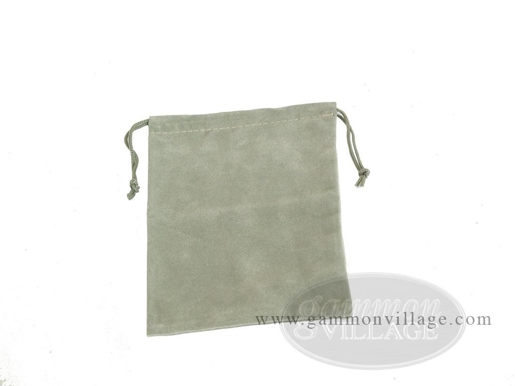 Budget Gray Felt Dice Bag - (4 in. x 5 in.)