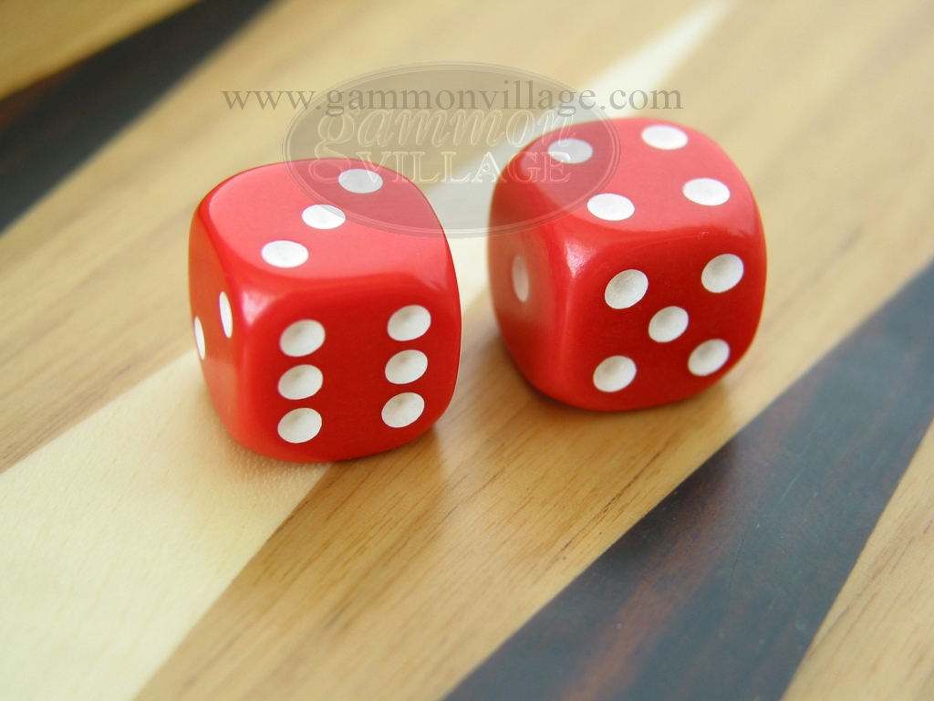 3/4 in. Rounded Solid Dice - Red (1 pair)