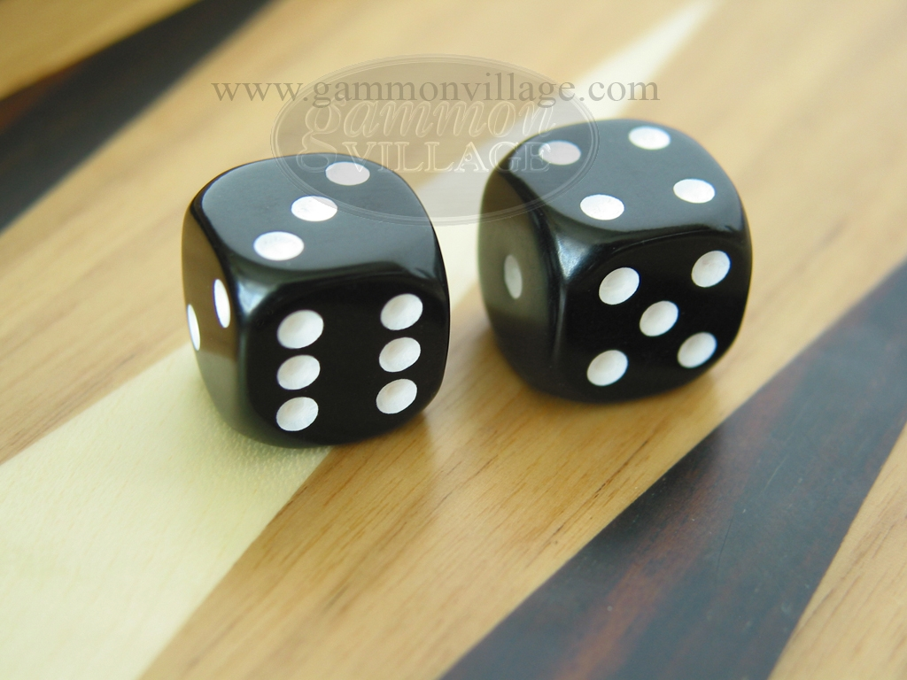 1/2 in. Rounded Solid Dice - Black (1 pair)