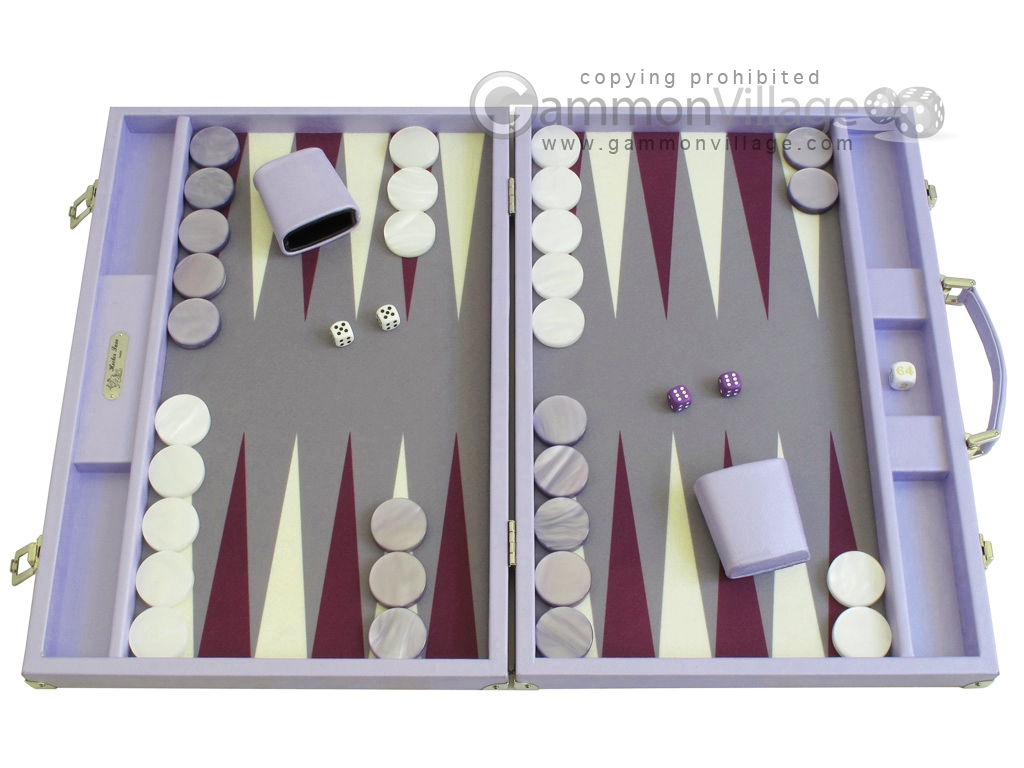 Hector Saxe Leatherette Backgammon Set - Parma