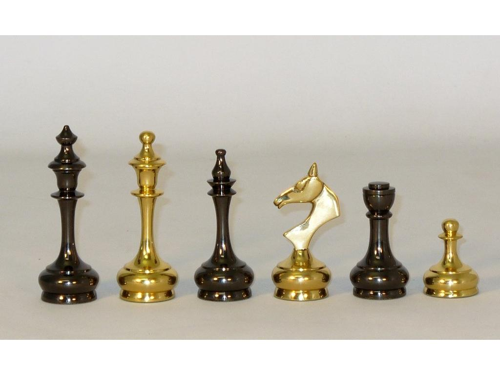 King Solid Brass Slim Chessmen