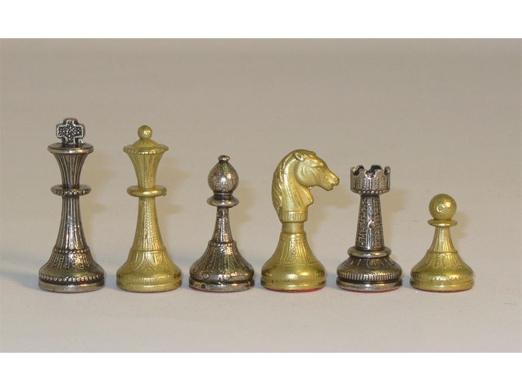 Staunton Metal Small Chessmen