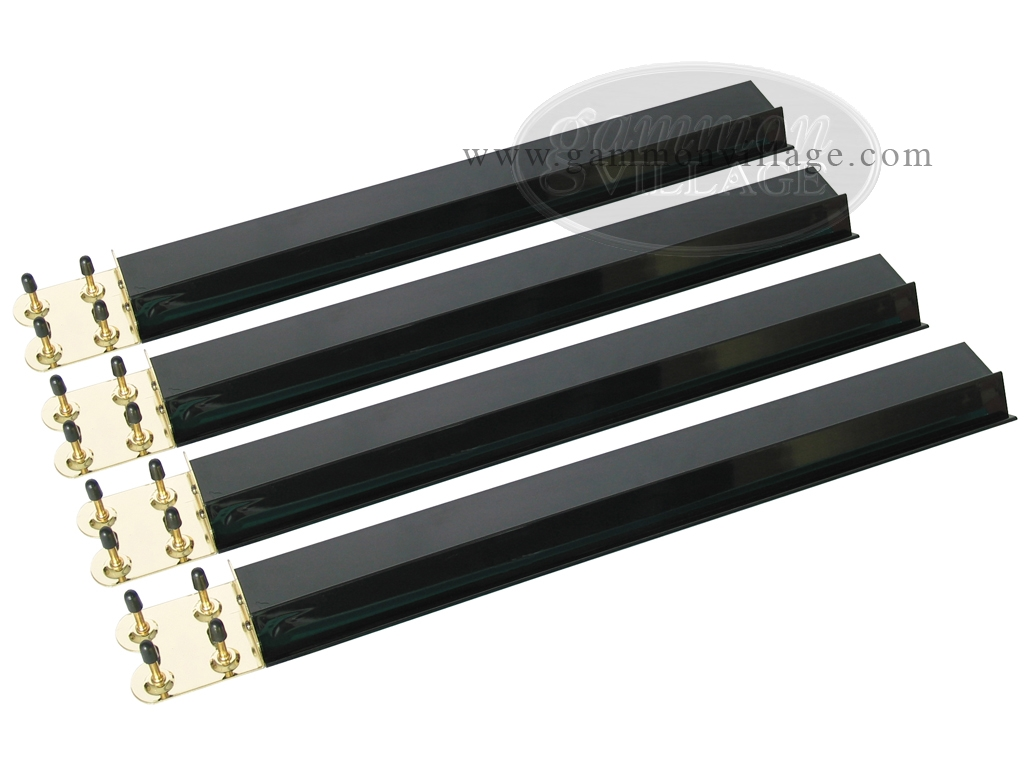 Mah Jong Tile Racks - Acrylic - Black Opaque - Set of 4