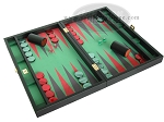 Zaza & Sacci® Leather/Microfiber Backgammon Set - Model ZS-425 - Black