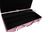 Large Empty Aluminum Mah Jong Case (fits pushers) - Pink