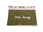 Mah Jongg League Card Zippered Pouch - Green