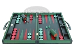 Zaza & Sacci® Leather Backgammon Set - Model ZS-888 - Large - Green