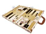 15-inch Map Backgammon Set - White