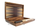 Zebrano Backgammon Set with Racks