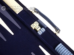 18-inch Deluxe Backgammon Set - Blue