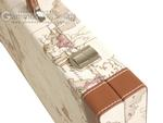 18-inch Map Backgammon Set - White