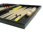 Black Backgammon Set with Racks - Black
