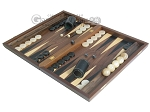 Walnut Backgammon Set with Racks