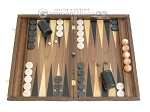 Carved Walnut Backgammon Set with Racks