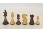 Acacia and Boxwood Chessmen - Triple Weighted - Double Queens