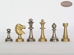 Professional Brass Tournament Chessmen with Spanish Traditional Chess Board [Small]