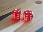 Precision Dice - Tangerine Red - 9/16 in. - 1 pair (2 die)
