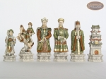 Luxury Oriental Chessmen with Spanish Traditional Chess Board [Extra Large]