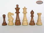 Royal Rosewood and Maple Staunton Chessmen with Large Spanish Lacquered Chess Board [Grey]